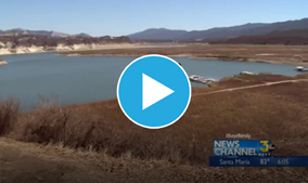 More pipes stretching out into Cachuma Lake to reach remaining water supply